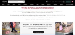 Next's website