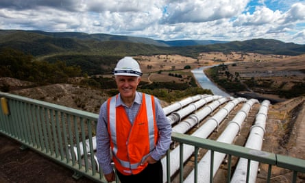 Australian Prime Minister Malcolm Turnbull visiting the Tumut 3 power station at the Snowy Hydro Scheme in Talbingo, in the Snowy Mountains.
