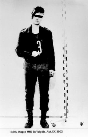 Unnamed police mugshot from the office of the Federal Commissioner for the Records of the State Security Service of the Former German Democratic Republic