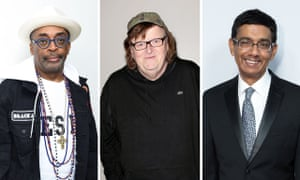 Spike Lee, Michael Moore and Dinesh D'Souza.