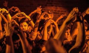 Crowd at Fabric nightclub.