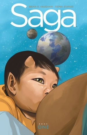 Saga by Brian K Vaughan and Fiona Staples