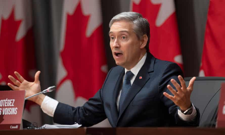 Canada's foreign affairs minister, François-Philippe Champagne, has said there is no clear evidence that Canadian military hardware was being used for human rights violations in Saudi Arabia.
