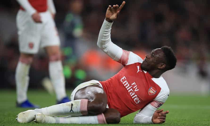 Arsenal's Danny Welbeck broke an ankle against Sporting Lisbon. 'Everybody likes him,' Bernd Leno said.