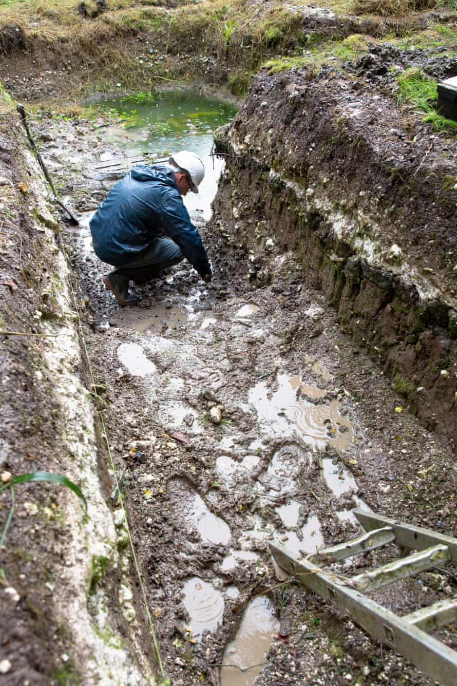 Examination of a trench in Blick Mead has led to the discovery of a charred toad's leg, bones of trout or salmon as well as the remains of cooked aurochs.