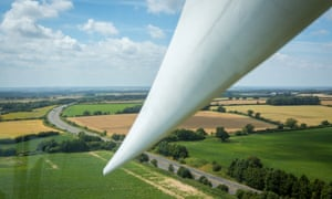 The view across Norfolk from the Green Britain Centre's wind-turbine