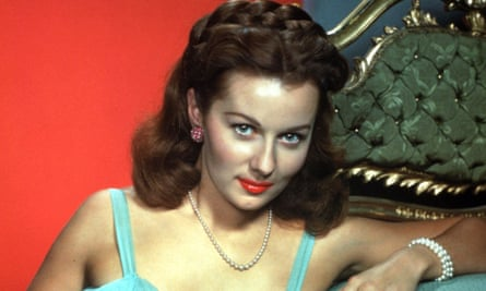 Rhonda Fleming in a publicity shot for Alfred Hitchcock's Spellbound in 1945.