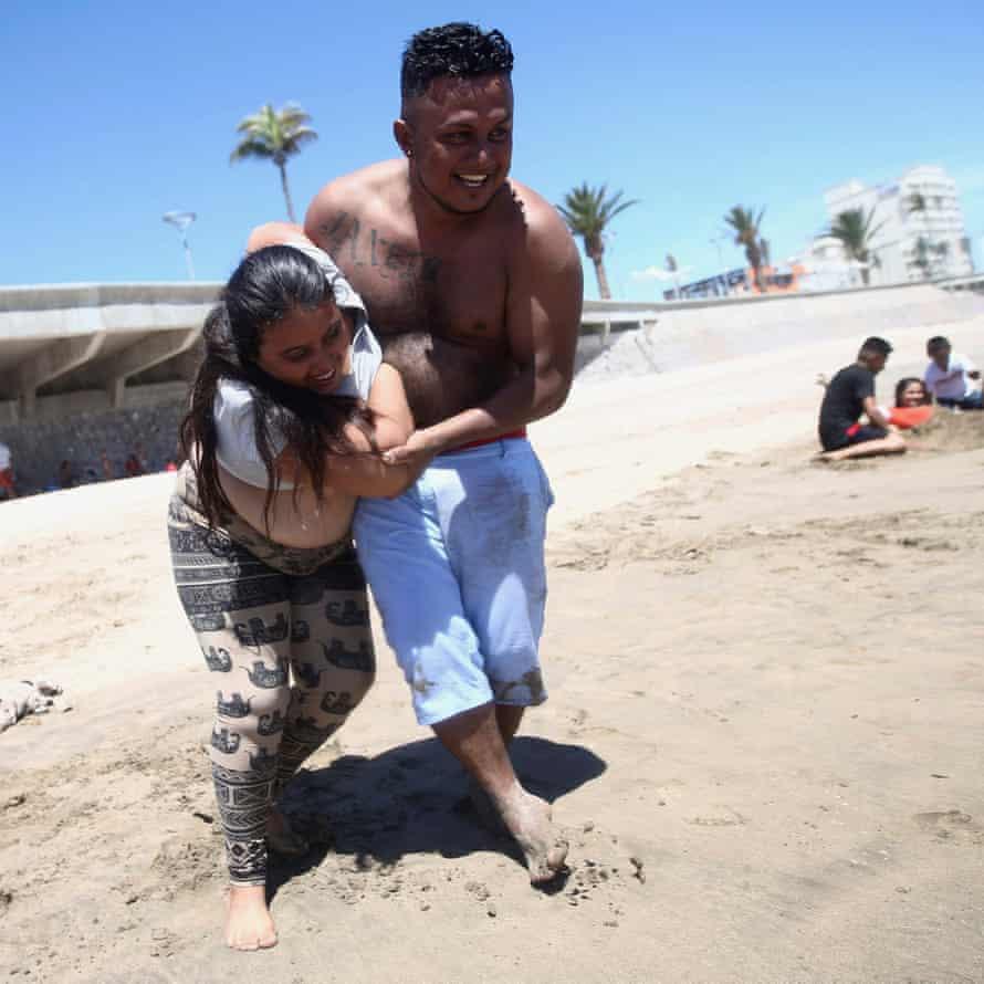 A beach day in Mazatlan, in Sinaloa state, 20 April