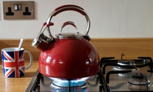 Gas kettle on hob