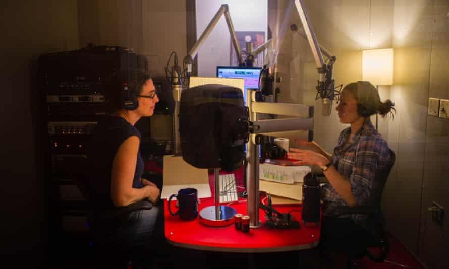 Sarah Koenig and Dana Chivvis in the Serial studio