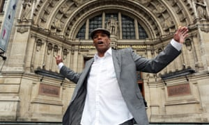 Liberty Choir's Richie at the V&A, where they have performed. Released from prison five years ago, he is a passionate advocate of the power of communal singing to help rehabilitate offenders.
