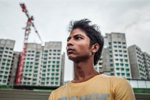 Ali, 24, from Bangladesh, trapped in debt bondage constructing tower blocks in Singapore