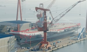 China's new carrier is based on the Soviet Kuznetsov-class design.