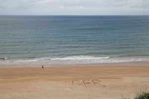 Portrush, Northern Ireland Tiger Woods' name is written on the beach