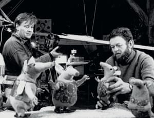 Out of this world: Oliver Postgate and Peter Firmin filming The Clangers in 1968.
