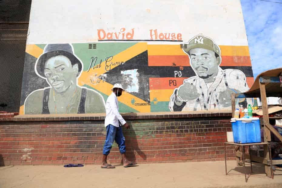 Gráfico de artistas populares de Zimdancehall en Mbare, Zimbabwe