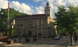 The courthouse in Pikeville, Kentucky, where the neo-Nazi rally will take place.