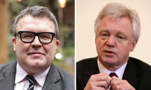 Labour's Tom Watson (left) and Conservative former shadow home secretary David Davis.
