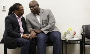 Michael Robinson and his partner of 14 years, Earl Benjamin
