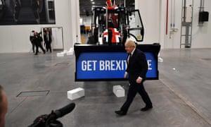 Boris Johnson visits the JCB factory in Staffordshire
