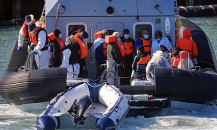 A group of people thought to be migrants on a boat