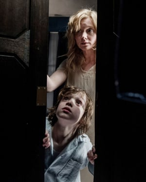 Essie Davis and Noah Wiseman in The Babadook.