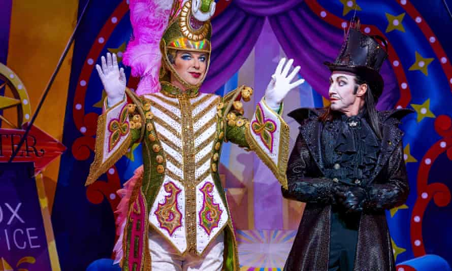 Searching through the smut for the story … Julian Clary (The Ringmaster) and Paul O'Grady (Baron von Savage) in Goldilocks and the Three Bear.