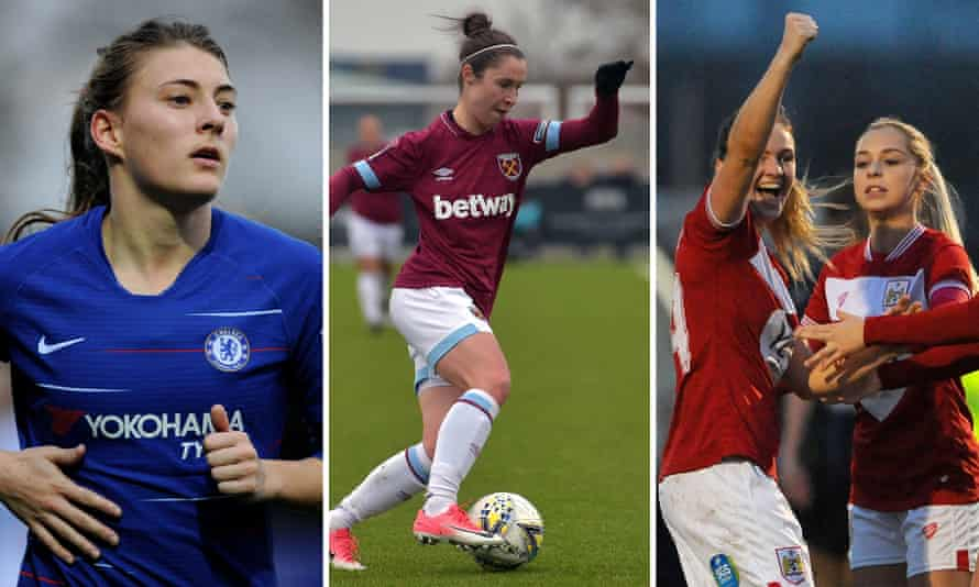 Hannah Blundell scored Chelsea's third; Jane Ross scored two for West Ham and Lucy Graham denied Manchester City a win.