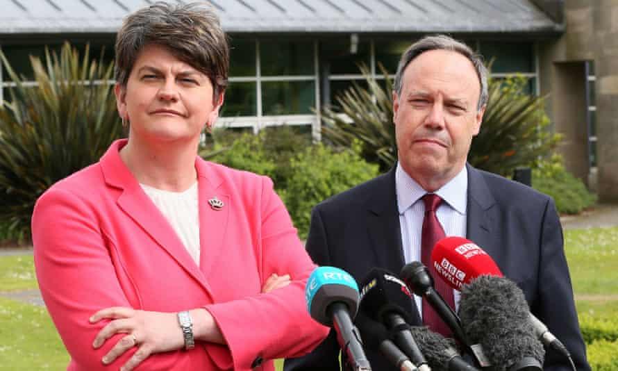 DUP leader Arlene Foster and DUP deputy leader Nigel Dodds.