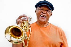 Hugh Masekela photographed for the Guardian in 2011
