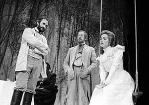 Jonathan Pryce, Michael Gambon and Greta Scacchi in Uncle Vanya.