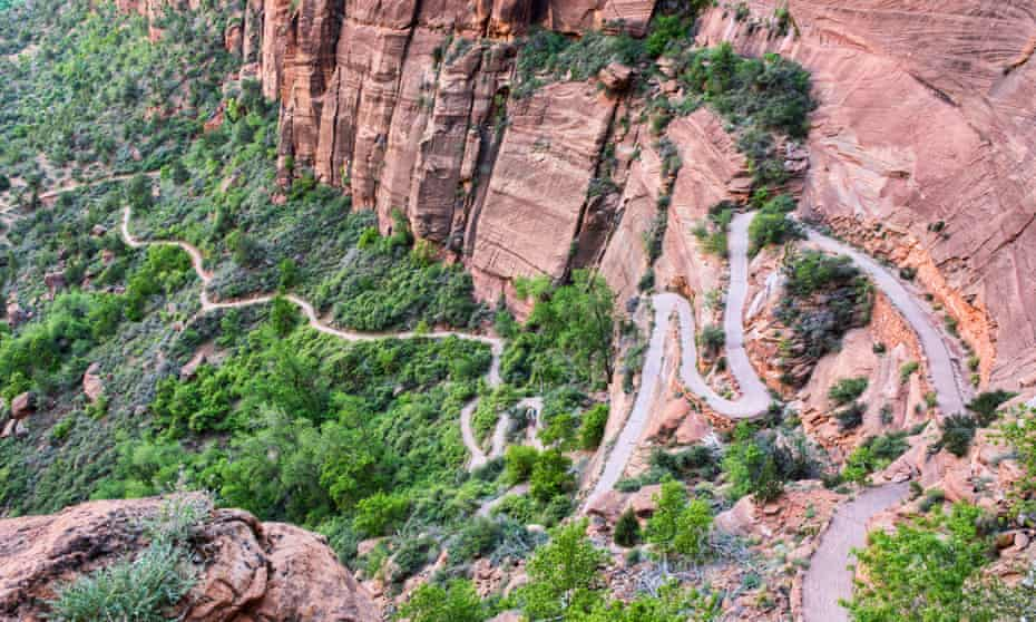 Hairy hairpins … Walter's Wiggles switchbacks, Angels Landing Trail, Zion national park.