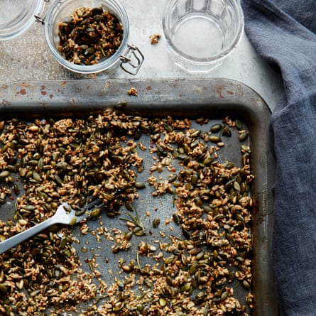 Anna Jones' maple, chilli and rosemary snacking seeds.
