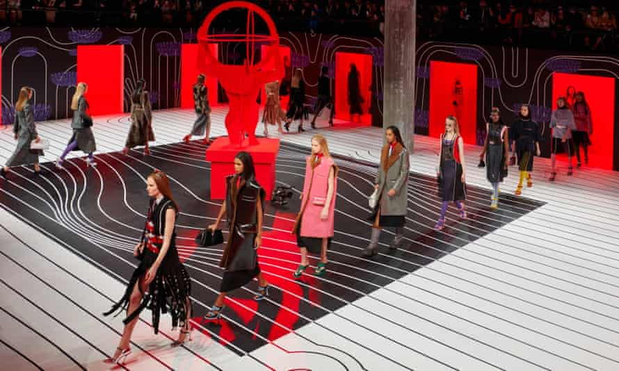 The Prada autumn/winter 2020 womenswear show in Milan last week.
