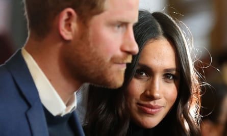 Prince Harry with Meghan Markle.