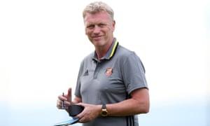 The Sunderland manager, David Moyes, before the friendly against Dijon.
