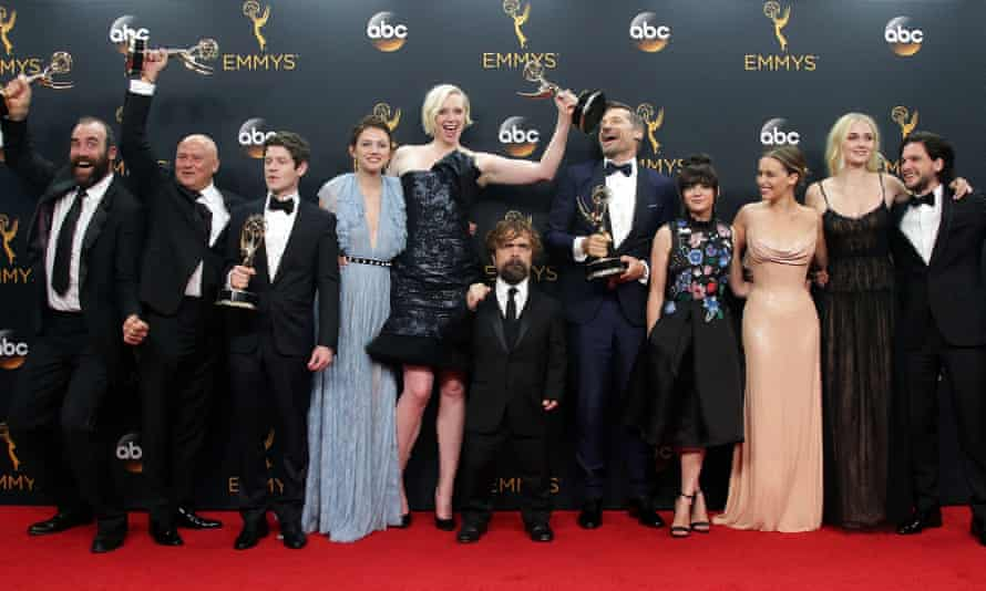 Members of the Game of Thrones cast at the Primetime Emmys in 2016