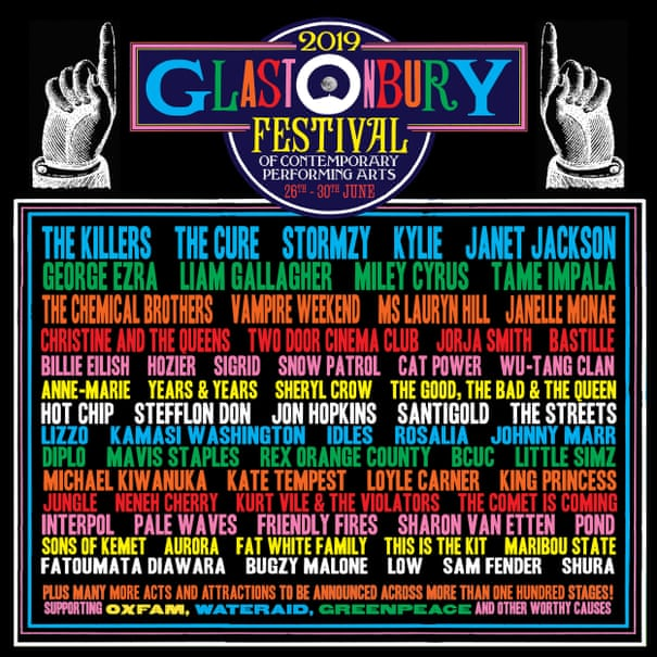 Glastonbury 2019: Killers and the Cure announced as final