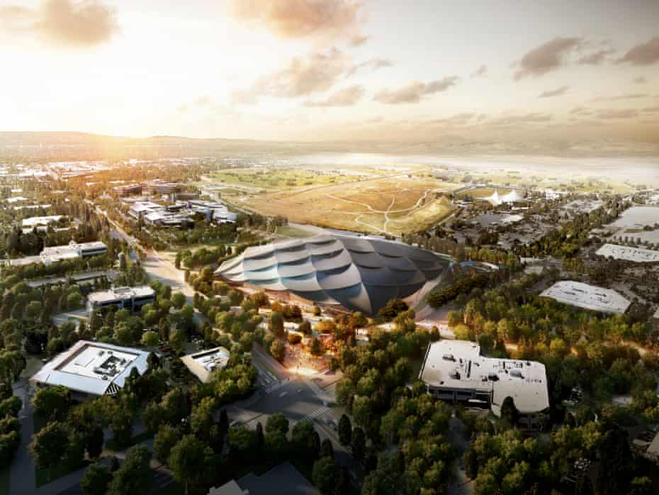 Google's new Silicon Valley HQ at Mountain View, California, designed by BIG and Heatherwick Studio.