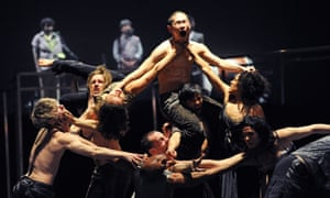 A scene from Babel at Sadler's Wells by Sidi Larbi Cherkaoui, Damien Jalet and Antony Gormley, in 2010.