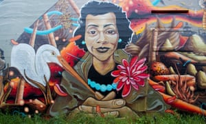 A mural on the Black United Fund building in the Alberta Arts District in Portland Oregon.