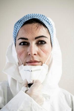 Francesca Palumbo, Intensive Care Unit nurse. San Salvatore Covid Hospital by Alberto Giuliani, 3rd Place winner, series