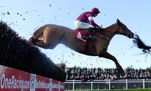 Samcro clears a fence on Sunday.