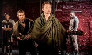 Tom Hiddleston as Coriolanus at the Donmar Warehouse in 2013.