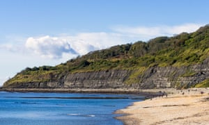 The Undercliff and beach to the west of Lyme Regis