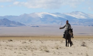A Mongolian herder on the steppe of Hovd province.