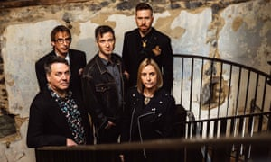 A stop-start career … the Chills, with Martin Phillipps, far left.