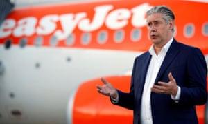 EasyJet CEO Johan Lundgren at Gatwick Airport, in June 2020.