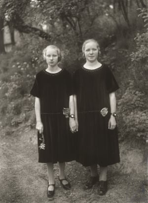 """Country Girls, 1925Sander's conceptual approach came out of the idea of the Stamm-Mappe, or home album. He began by photographing the people of his native rural village, Westerwald, sorting them """"according to their essential archetype, with all the characteristics of mankind in general""""."""