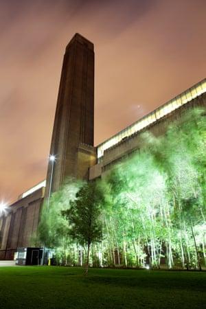 Tate Modern at night.